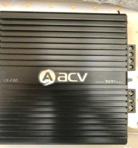 Новый усилитель 2-ух канальный acv lx 2.60