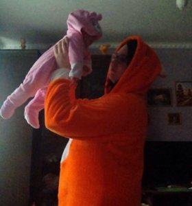 кигуруми - плюшевая пижама лисичка