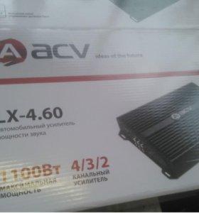 Новый 4-ех канальный усилитель acv 4.60