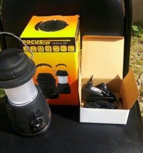 Фонарь, радио, зарядное устройство.