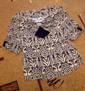 Блуза шёлковая на