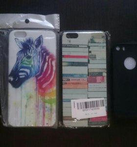 3 чехла (2 -IPHONE 6 plus   1- IPhone 5).