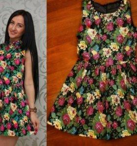 Летнее платье,цветочный принт