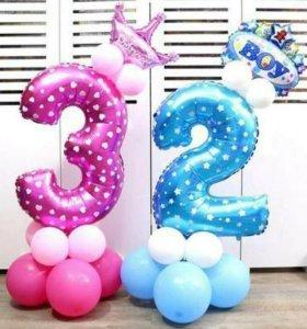 Композиция с цифрой на День Рождения