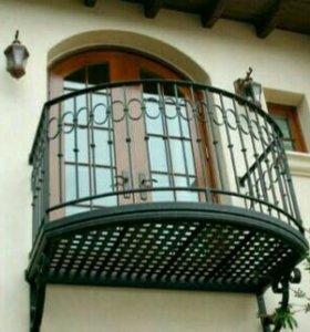 Ограждение кованое, балконное