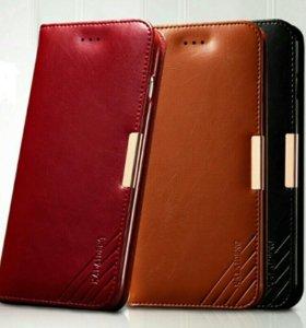 Чехол новый кожаный для Sony Xperia Z5 premium