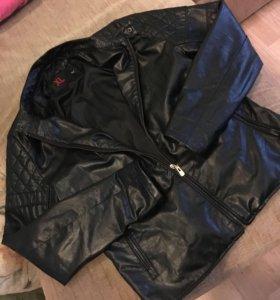 Кожаная куртка мужская( кож.заменитель)
