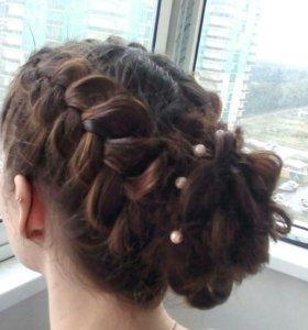 Прически косы макияж