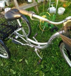 Трехколесный грузовой велосипед для взрослых Стелс
