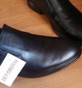 Новые мужские туфли натуральная кожа!