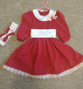 Платье на 68-80 см