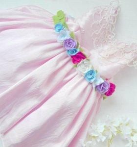 Цветочный пояс для платья