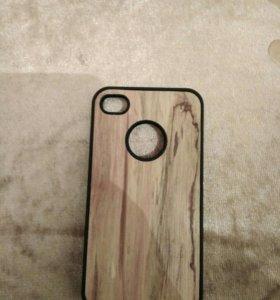 Деревянный чехол на Iphone 4s