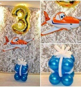 Композиция с цифрой и фигурой на День Рождения