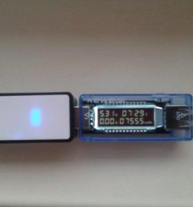 USB тестер (измерение ёмкости PowerBank) до 100.000 мАч