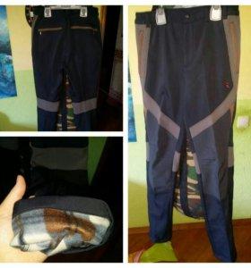 Брюки джинсы модные новые утепленные