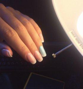 Покрытие гель-лак, наращивание ногтей