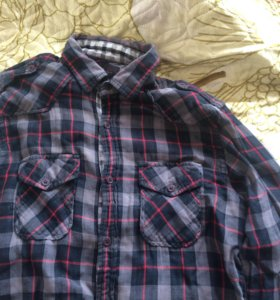 Рубашка Zara клетчатая