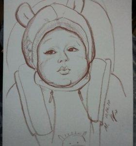 Художественный портрет/услуга малыша