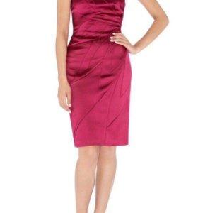 Атластное платье футляр Karen Millen оригинал