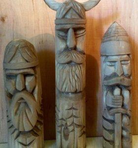 Резные образы славянских богов