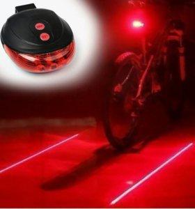 """Фонарь велосипедный STG """"JY-1L"""", задний, с лазером"""