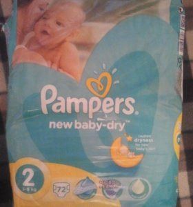 Подгузники Pampers new baby-dry 2