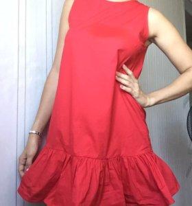 Хлопковое яркое платье