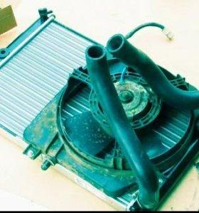 Радиатор с вентилятором на ВАЗ 2114