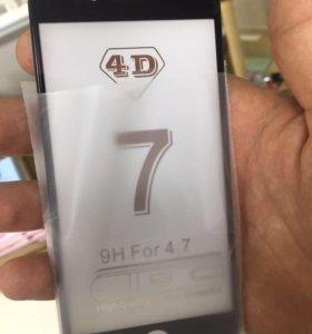 4D стекла для iPhone