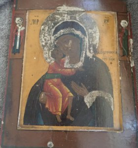 Феодоровская богородица старинная ИКОНА более 100