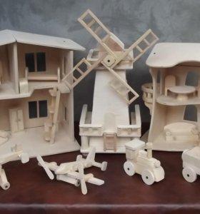 Изготовление детскизх игрушек из дерева, изготовление изделий для дома, для сада.