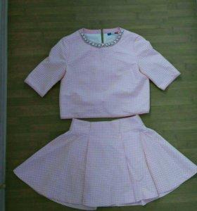 Костюм юбка топ