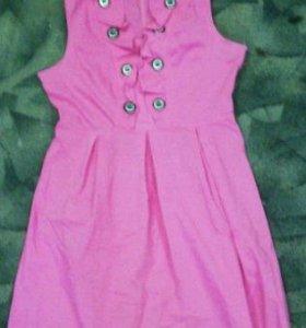 Розовое платье,футболки и трикотажное платье