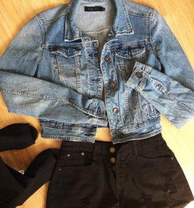 Продаётся джинсовая куртка и шорты
