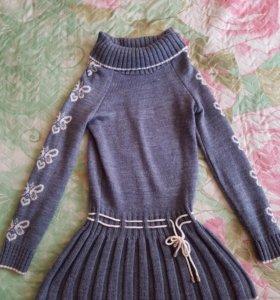 Шерстяное платья