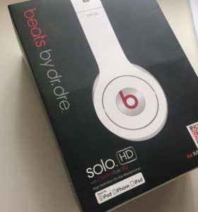 Наушники белые Monster Beats by dr.dre solo