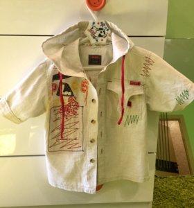 Рубашка из льна 7-8 лет