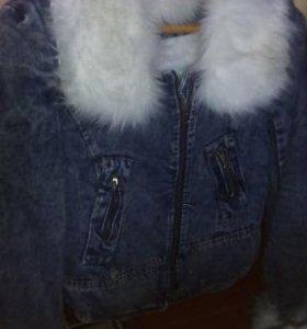 Утепленная джинсовая курточка
