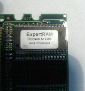 Оперативная память 2 платы ddr400 на 512мб каждая