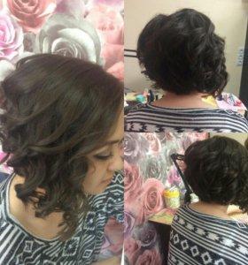 Парикмахерские услуги, наращивание волос коррекция