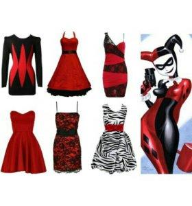 Новое красно-черное платье
