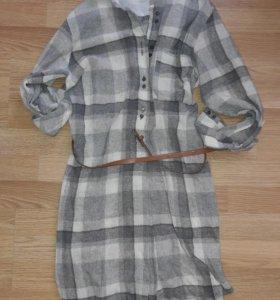 платье Zara шерсть