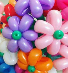 Цветы из шаров, композиции из шаров