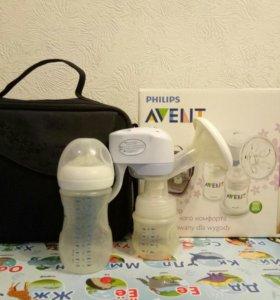 Электрический молокоотсос Avent в наборе