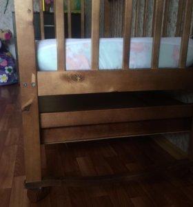 Кровать+ящик для белья+матрац+наматрасник