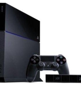 PS 4 1 тб с двумя джойстиками и играми