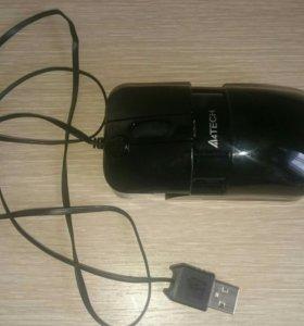 Мышь A4Tech раздвижная