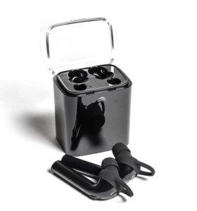 Wireless Bluetooth беспроводная стерео гарнитура Mettle наушники с микрофоном и зарядным чехлом