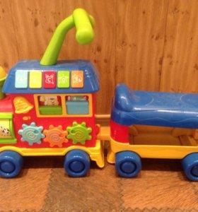 Детский паровозик-толокар